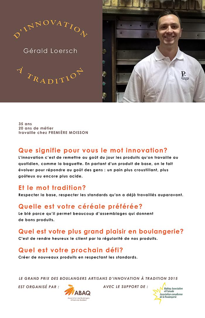 entrevue Gérald Loersch
