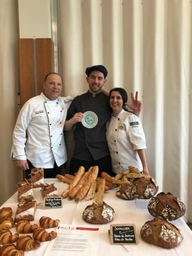 Anthony Daniele et ses enseignants, Marc Simonet et Marie-Pascale Bonne