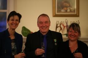 Catherine Feuillet - consule générale de France à Montréal, Guy Bonraisin, Stéphanie Loiselle - conjointe