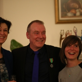 Catherine Feuillet - consule générale de France à Montréal, Guy Bonraisin, Gaëlle Bonraisin - fille